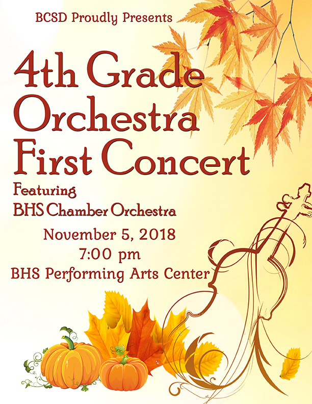 4th Grade Orchestra Concert program cover