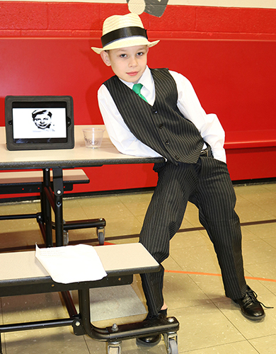TJ student dressed as Al Capone