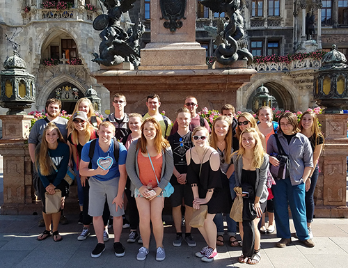 BHS students in German plaza