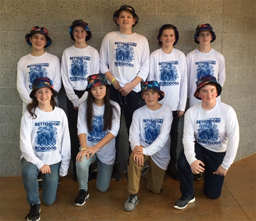 2018 7th-8th Grade Robodog team