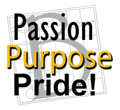 Passion, purpose, pride graphic