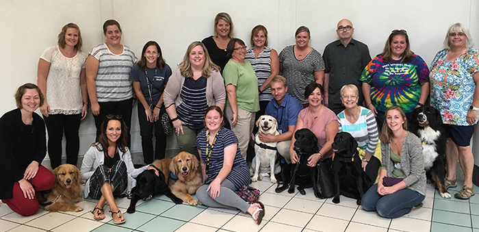 BCSD therapy dogs and handlers